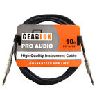Gearlux Instrument/Guitar Cable, Black, 10 Foot