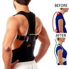 Neoprene Magnetic Posture Corrector Lumbar Shoulder Support Belt Brace EN24H 01