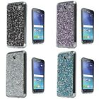 For Samsung Galaxy J7 Sky Pro ROCK Rhinestone Bling Crystal Design Cover Case