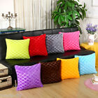 Square Lattice Pattern Soft Plush Cushion Cover Car Sofa Decor Pillow Case GIFT