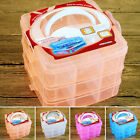 HOME Plastic Beads Jewellery useful Storage Organiser Compartment Tools Box Case