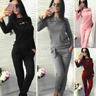 Women Casual O-Neck Long Sleeve Solid Sweatshirt Long Pants Sport S0BZ