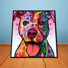 Modern Abstract Oil Painting Colorful Dog Home Wall Decor Art Canvas Picture US