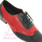 "@@ Brillante #MG4 Black Red Men Latin Ballroom Dance Shoes sz UK10 / 1"" Heel"