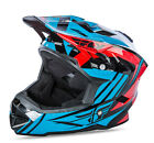 NEW 2017 FLY RACING DEFAULT BMX MTB DOWNHILL ADULT HELMET TEAL/RED ALL SIZES