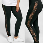 Womens Casual Plus Size Sexy Elastic Lace Pants Leggings Sport Running Jogging