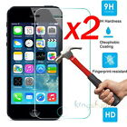 2Pcs Premium 9H+ Tempered Glass Screen Film Protector For Apple iPhone SE