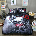 Skull Doona Duvet Quilt Cover Set Single Queen King Size Goth Mask Pillowcases