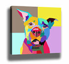 POP ART DOG MODERN WPAP STYLE HIGH QUALITY CANVAS PRINT - MULTI SIZES