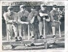 1946 Princeton University Baseball Heavy Hitters Batting Practice Press Photo