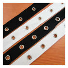 20mm BLACK or WHITE 4mm/ 5mm EYELET TWILL TAPE TRIM HABERDASHERY TRIMMING CORSET