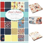 "MODA Ann""s Arbour 100 % cotton, charm pack jelly roll layer cake for sewing"