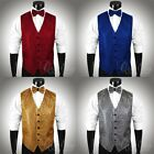 Metallic Sequins Vest Bow Tie Set for Suit or Tuxedo 5 Colors Available