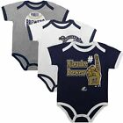 Infant Milwaukee Brewers Bodysuit Set of 3 Bases Loaded MLB Baby Creeper