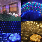 LED String Fairy Lights Net Mesh Curtain Xmas Wedding Party Outdoor Indoor UK