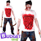 Gory Zombie Mens Fancy Dress Creepy Body Part Guts Undead Adults Costume Outfit