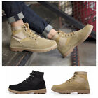 New Men Combat Style Army Worker Military Ankle Boots Flat Punk Goth Shoes Size