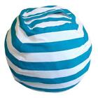 Kid Stuffed Animal Toy Cotton Bean Bag Storage Pouch Soft Stripe Fabric Chair US