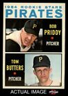 1964 Topps #74 Bob Priddy / Tom Butters - Pirates Rookies NM/MT