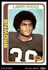 1978 Topps #184 Larry Poole Browns-FB EX/MT $0.99 USD on eBay