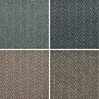 Cheap Chevron Pattern Loop Pile Carpet Hardwearing Felt Backed Lounge Bedroom