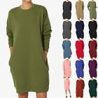 TheMogan Casual Oversized Crew Neck Sweatshirts Loose Fit Pullover Tunic S 3XL