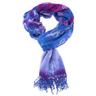 Christian Audigier 80x40 Face and Crown Fringe Scarf