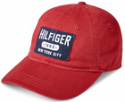 Tommy Hilfiger Men's Nepal Red Twill Logo Cotton Adjustable Strapback Hat
