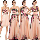 2017 Formal Long/Short Evening Party Ball Gown COCKTAIL Wedding Bridesmaid Dress