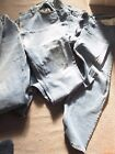 Rockford jeans 2 pairs- blue denim waist 46, leg 30-well worn- Fabric-craft