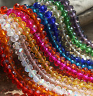 Wholesale 4/6/8/10/12mm Glass Crystal Faceted Rondelle Charm Spacer Beads