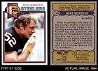 1979 Topps #194 Mike Webster Steelers NM/MT