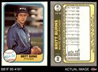 1981 Fleer #342 Britt Burns No Hand in Baseball on Front White Sox EX/MT