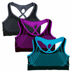 Lot 1 3 6 Women's Sports Bras Wireless Padded Seamless High Impact Active Yoga