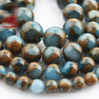1 Strand 15'' Composited Blue Natural Agate Stone Gemstone Beads 6 8 10 12mm