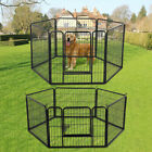Heavy Duty 6 Piece Puppy Dog Exercise Pen Run Enclosure Welping Pen Playpen