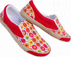 SUPER CUTE Slip ON MULTI-COLOR Red CANVAS SNEAKERS SHOES 10 11
