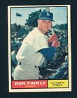 1961 TOPPS Baseball #492A RON FAIRLY (BELOW STITCH IS WHITE) EXMT