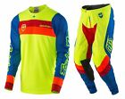NEW 2017 TROY LEE DESIGNS SE AIR CORSA MX GEAR COMBO FLO YELLOW SIZE 36/X-LARGE
