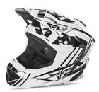 NEW 2017 FLY RACING DEFAULT BMX MTB DOWNHILL ADULT HELMET WHITE/BLACK ALL SIZES