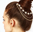 Fashion Women Star Rhinestone Hair Cuff Comb Headdress Headband Head Band Chain