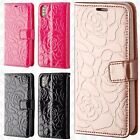 For Apple iPhone X ROSE Leather Wallet Case Pouch Flip Phone Cover Accessory