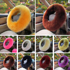 3Pcs/Set Soft Wool Steering Wheel Cover Furry Fluffy Car Accessory Useful