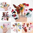 1-10PCS Cartoon Animal Finger Puppets Plush Doll Baby Hand Christmas Gift Toy