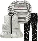 Calvin Klein Infant Girls Silver Vest 3pc Legging Set Size 12M 18M 24M $69.50