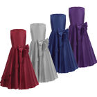 Girl Princess Occasion Satin Dress Kids Bow Flower Party Wedding Prom Gown Dress