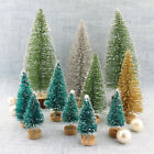 3PCS Mini Christmas Tree Bottle Brush Snow Covered Frost Decoration Ornament