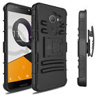 For Alcatel A30 Heavy Duty Shockproof Armor Hard  Case Cover w Belt Clip Holster
