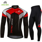 Men Sports Team Cycling Jersey Sets Bike Bicycle Top Pants Long Sleeve Clothing