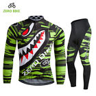 Mens Breathable Cycling Jersey Bike Bicycle Clothing Long Sleeve Suit Pants Set